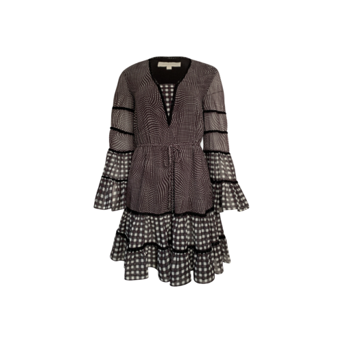 Jonathan Simkhai Black Checkered Dress