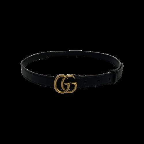 Gucci Black X-Small Logo Leather Belt