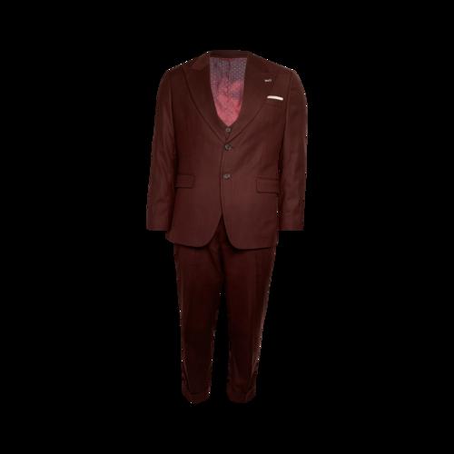 Burgundy Three Piece Suit