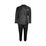 Plaid Green Double Breasted Three-Piece Suit
