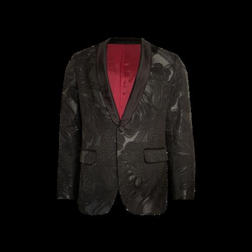 Mr Turk Floral Tuxedo Shawl Jacket
