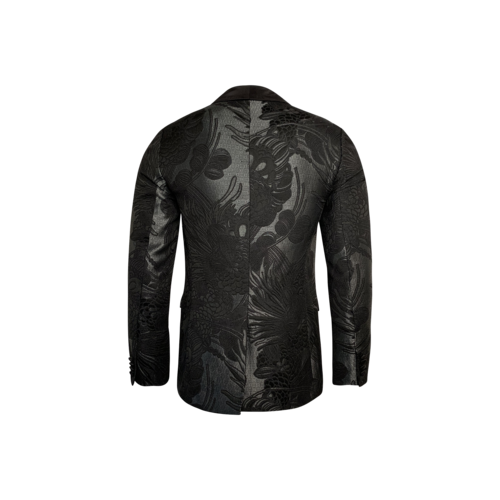 Floral Tuxedo Shawl Jacket