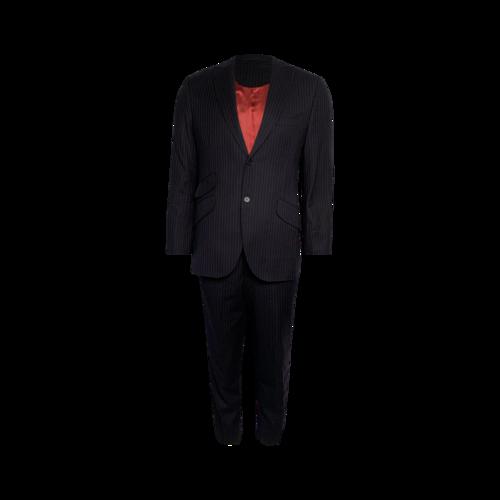 Custom Made Navy Pinstripe 2-Piece Suit Set