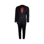 Navy Pinstripe 2-Piece Suit Set