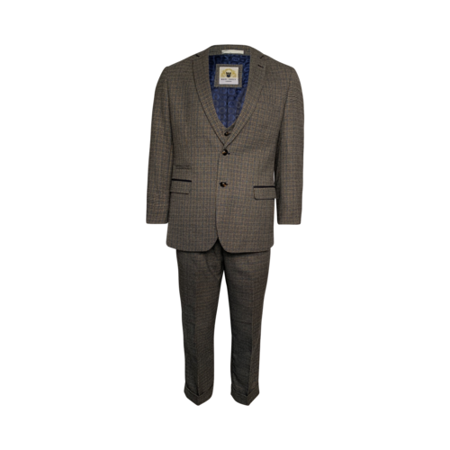 Checkered Tweed Three-Piece Suit