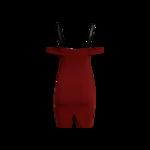 """Red """"Nova"""" Off-the-Shoulder Dress"""