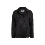 Black Double Breasted Peacoat