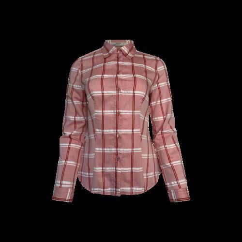 Prada Red Plaid Button-Down Shirt