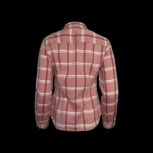 Red Plaid Button-Down Shirt