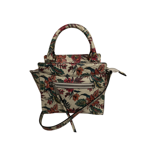 "Sam Edelman White Multi Snake Floral ""Karla"" Micro Satchel Bag"