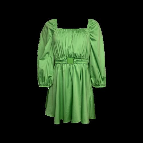 Nocturne Lime Green Balloon Sleeve Mini Dress