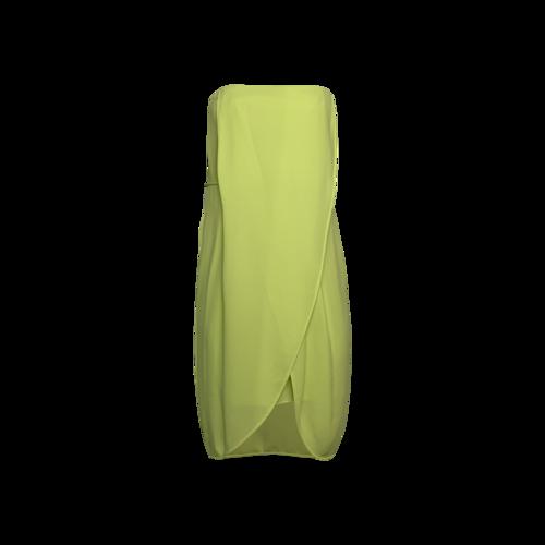 "BCBGMAXAZRIA Lime Green ""Harriet"" Strapless Dress"