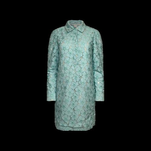 """Diane von Furstenberg Mint Green """"Leeandra"""" Flower Lace Dress"""