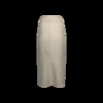 White Front Slit Skirt
