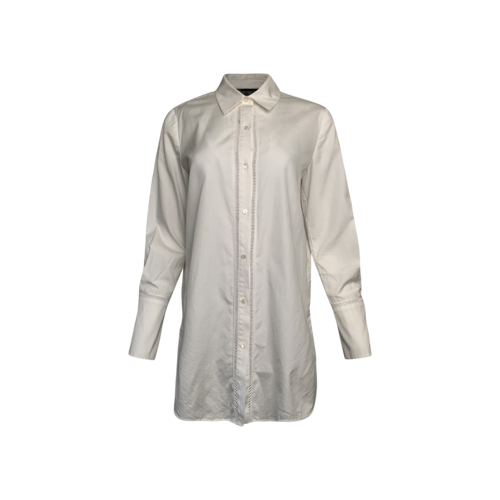 Vince White Button-Up Long Sleeve Shirt
