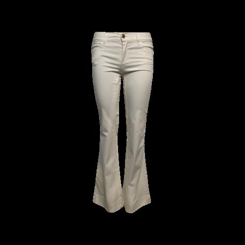 "Versace White ""Donna"" Studded Pockets Pants"