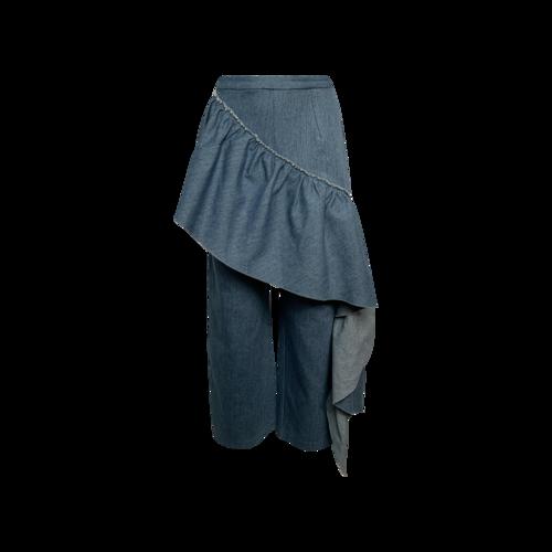 "Colina Strada Blue ""Gauley"" Ruffle Pants"