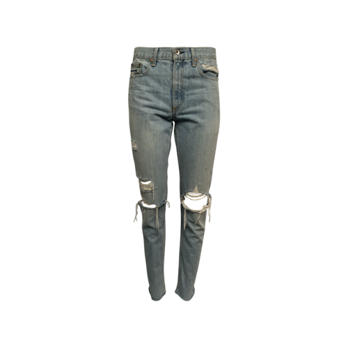 rag & bone Blue Distressed Raw Hem Jeans