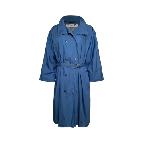 Vintage Blue Giorgio Beverly Hills Trench Coat