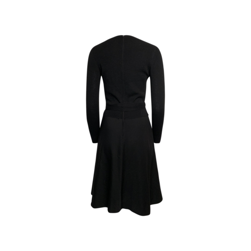 Black I.MAGNIN and Co. Wool Polka Dot Dress