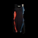 Black Crochet Multi-Color Fringe Dress