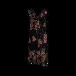 Pink Floral and Polka Dot Embellished Dress
