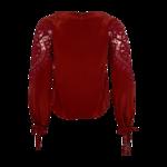 "Red Crochet ""Santa Cruz"" Blouse"
