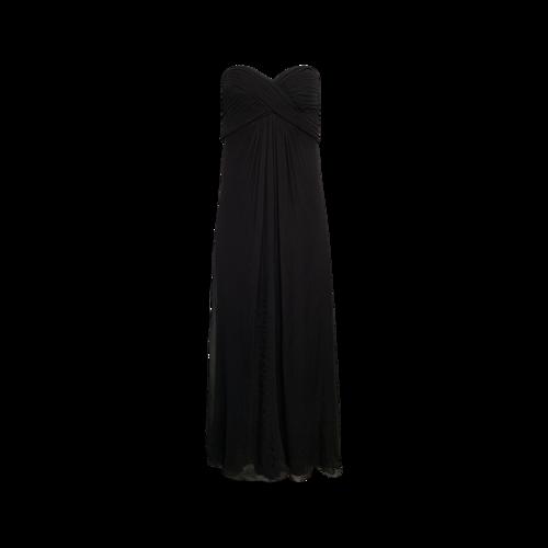 Tadashi Shoji Black Strapless Silk Gown