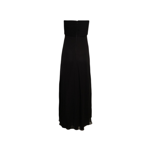 Black Strapless Silk Gown