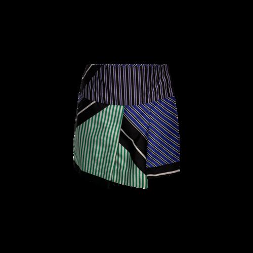 Diane von Furstenberg Multi-Color Stripe Pleated Skirt