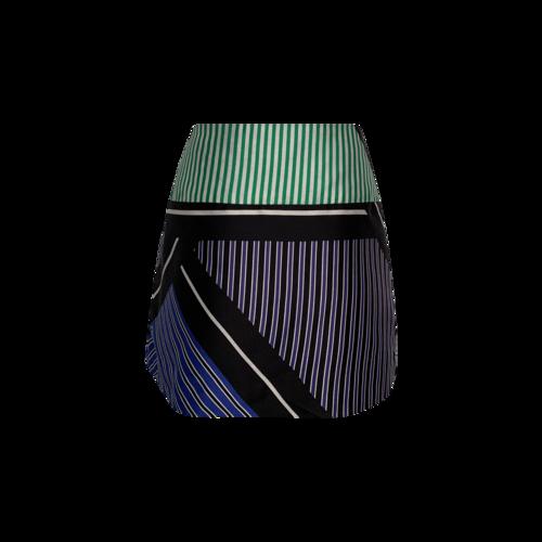Multi-Color Stripe Pleated Skirt