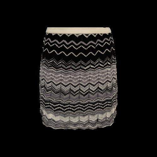 Missoni Grey Gradient Chevron Knit Skirt