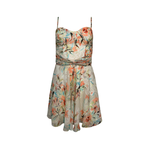 Marciano Floral Print Bustier Dress