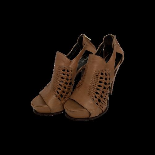 """Elizabeth and James Brown """"Minx"""" Cognac Leather Heels"""