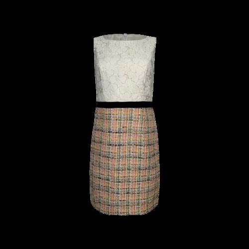 Trina Turk Lace and Boucle Pencil Dress