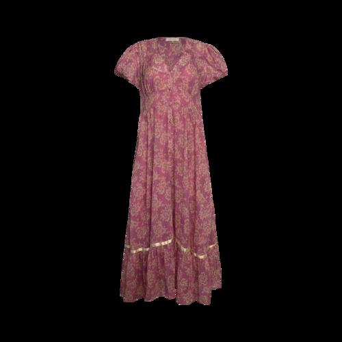 "Love Shack Fancy Pink ""Briony"" Dress in Mulberry Sunrise Print"