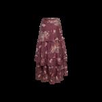 "Purple ""Florita"" Maxi Skirt"
