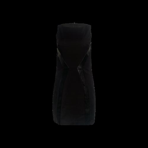 Armani Exchange Black Pencil Dress w/ Faux Leather Panels