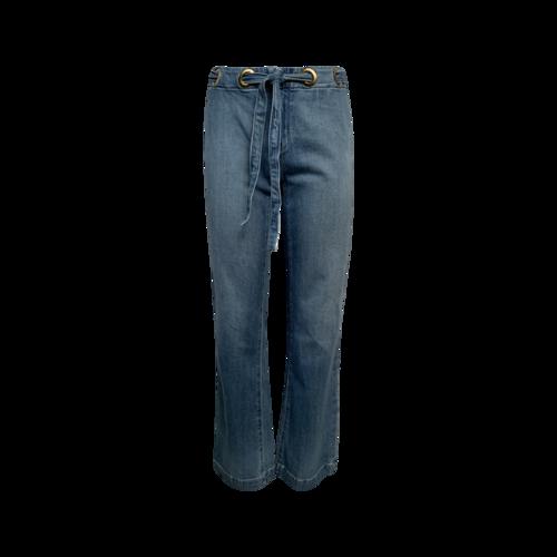 Parker Smith Blue Jeans w/ Grommet Waist Tie