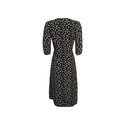 "Black ""Coachella"" Floral Print Dress"