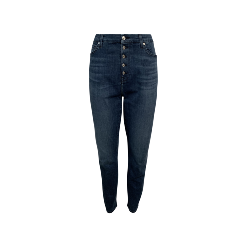 7 For All Mankind Blue High Waist Ankle Skinny Jeans