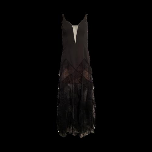 "BCBGMAXAZRIA Black ""Avaline"" Sheer Lace Gown"