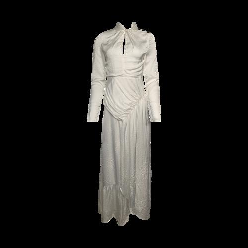 Self-Portrait Ivory Twist Neck Printed Maxi Dress