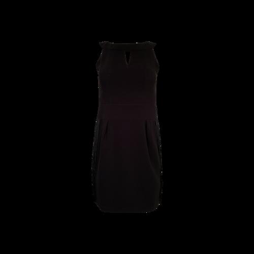 Nanette Lepore Black Back-Fringe Dress