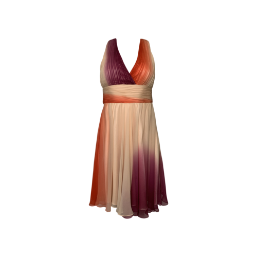 Mikael Aghal Multi-Color Ombre Dress