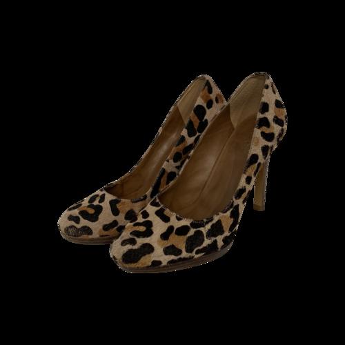 BCBGMAXAZRIA Leopard Print Textured Heels