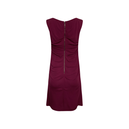 Purple Side Ruched Dress
