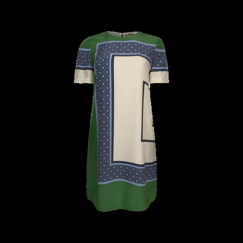 "Tory Burch Green ""Mallory"" Print Dress"