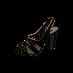 Black Criss-Cross Heels w/ Pink Pipping