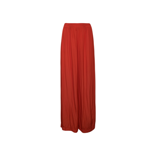 Ramy Brook Red Pleated Flowy Pants